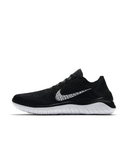 Nike Black Free Run 2 Flyknit Trainers for Men Lyst
