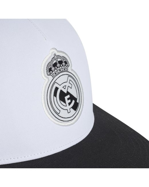 72b98c3d8b5 ... Adidas - White Real Madrid Cf Cap for Men - Lyst ...