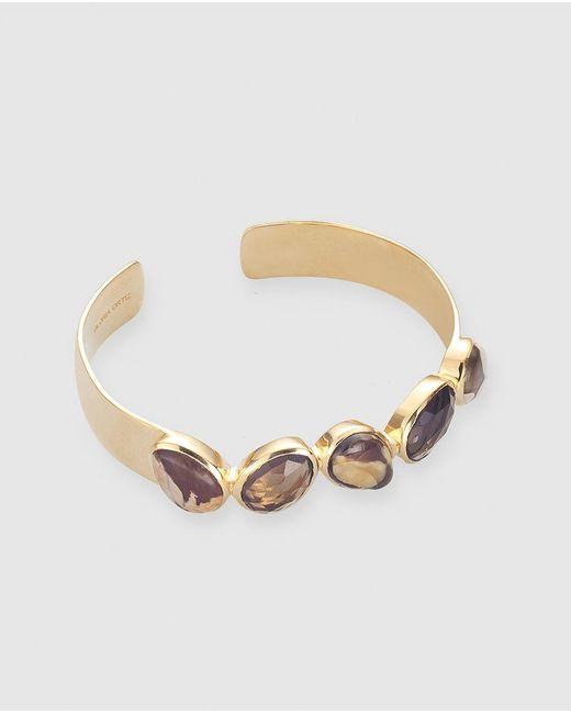 Gloria Ortiz   Golden Bracelet With Brown Stones   Lyst