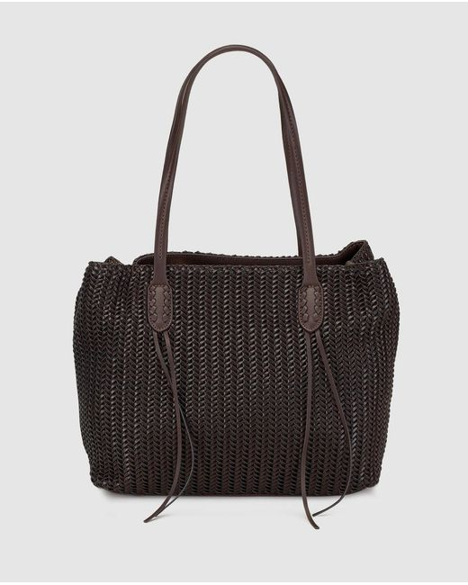 El Corte Inglés - Basic Dark Brown Shopper Bag With Plaiting - Lyst