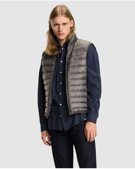 Tommy Hilfiger | Gray Grey Quilted Gilet for Men | Lyst