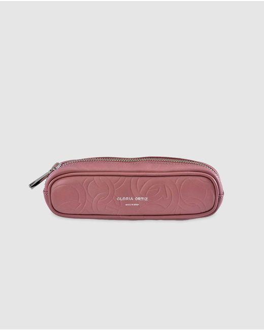 Gloria Ortiz - Miriam Pink Embossed Leather Pencil Case - Lyst