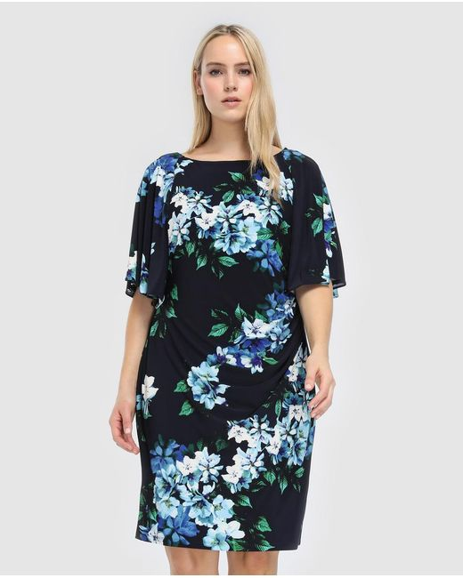 Denim & Supply Ralph Lauren - Blue Plus Size Short Floral Print Dress - Lyst