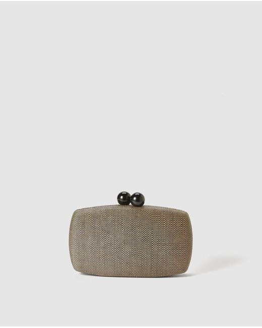 El Corte Inglés - Black Oval Paper Evening Clutch - Lyst