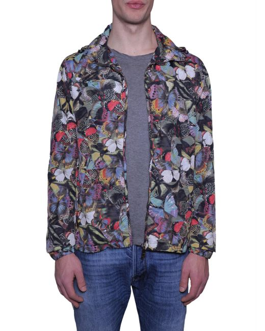 Valentino | Blue Camubutterfly Print K-way In Technical Fabric for Men | Lyst