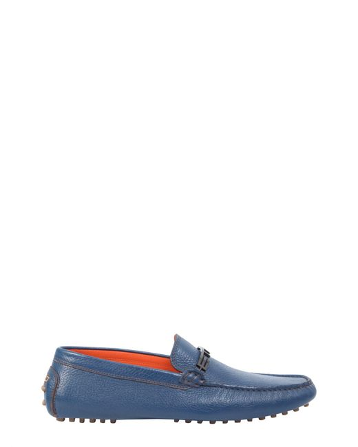 Etro - Blue Leatherloafers With Logo Band for Men - Lyst