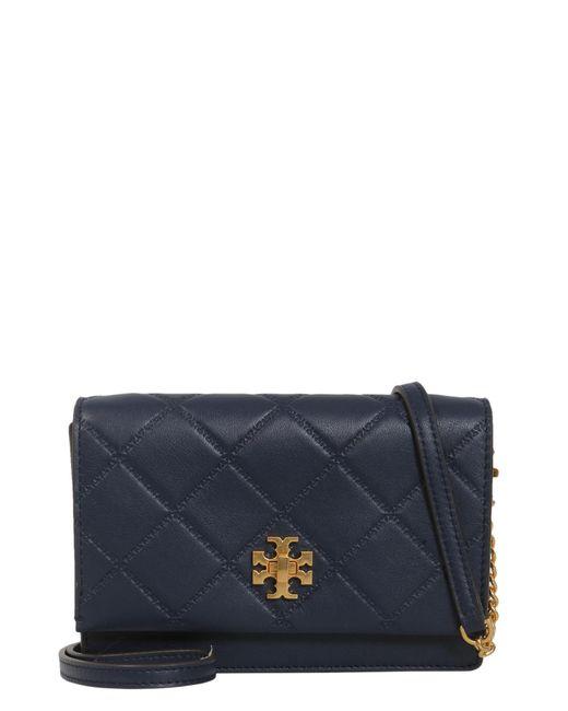 Tory Burch - Blue Georgia Mini Leather Crossbody Bag - Lyst