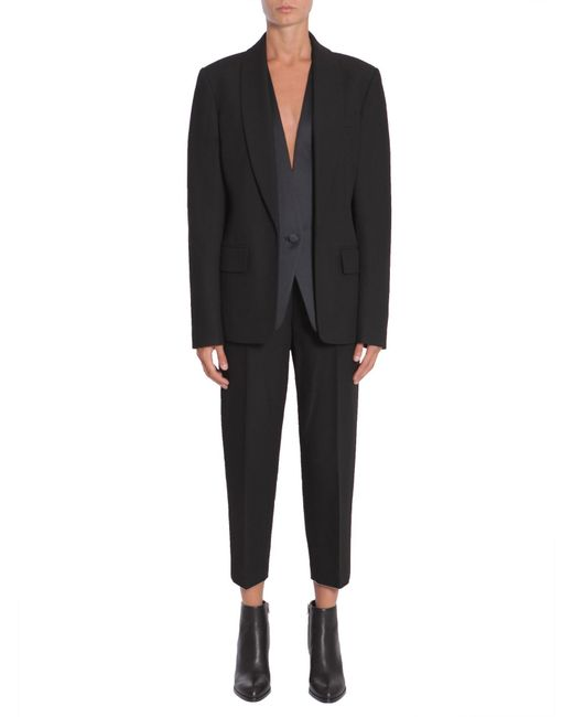 Alexander Wang | Black Wool Blend Tuxedo Blazer for Men | Lyst