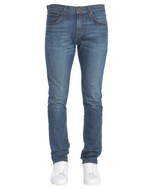 J Brand - Blue Skinny Fit Mick Denim Stretch Jeans for Men - Lyst