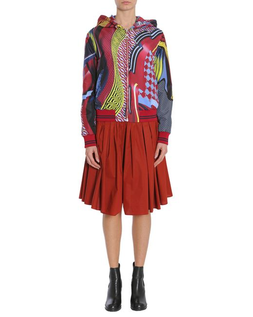 Versace - Red Double Face Energy Wave Bomber Jacket In Technical Fabric - Lyst
