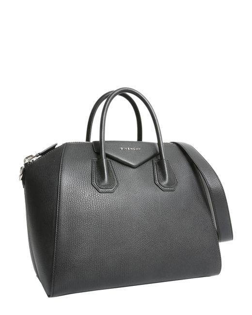 c82ae8683f11 Lyst - Givenchy  antigona  Medium Black Leather Bag in Black - Save 34%