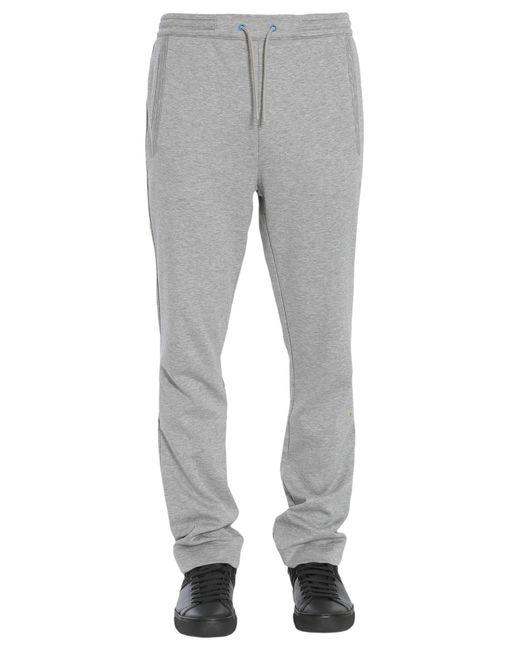 "BOSS Athleisure - Gray Pantalone ""hadim"" In Cotone Regular Fit for Men - Lyst"