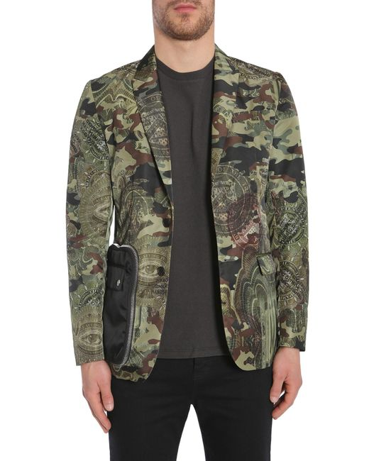 Givenchy - Green Camo Dollar Print Jacket for Men - Lyst