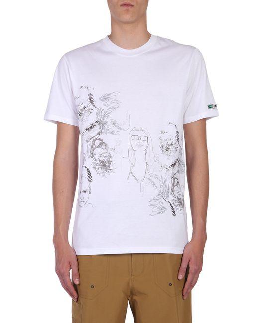 "Lanvin - White ""dragon People"" Printed T-shirt for Men - Lyst"