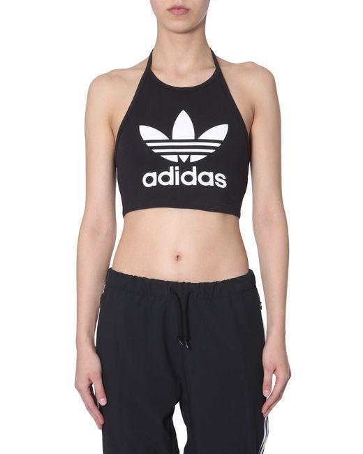 2636c9cc1243 ... Adidas Originals - Black Top Trefoil In Misto Cotone - Lyst ...
