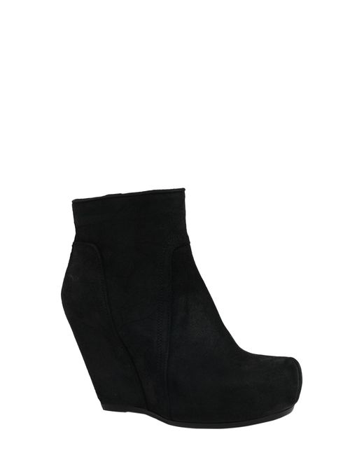 Rick Owens - Black Suede Ankle Boots With Zip - Lyst