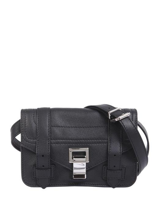 Proenza Schouler - Black Ps1 Mini Leather Crossbody Bag - Lyst