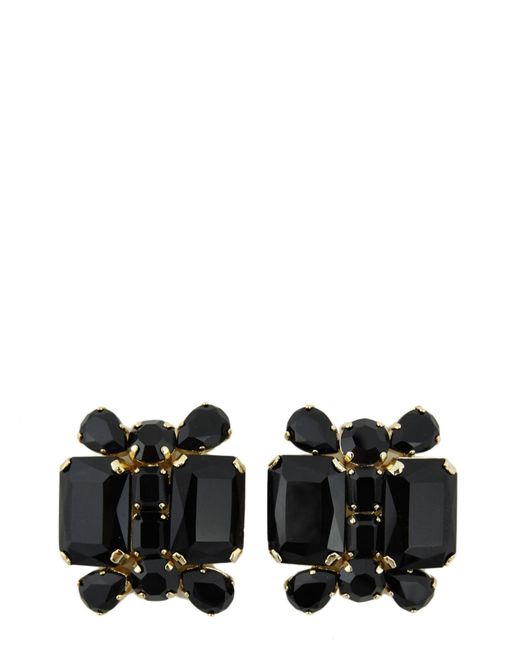 DSquared² | Black Swarovski Earrings With Clip Closure | Lyst