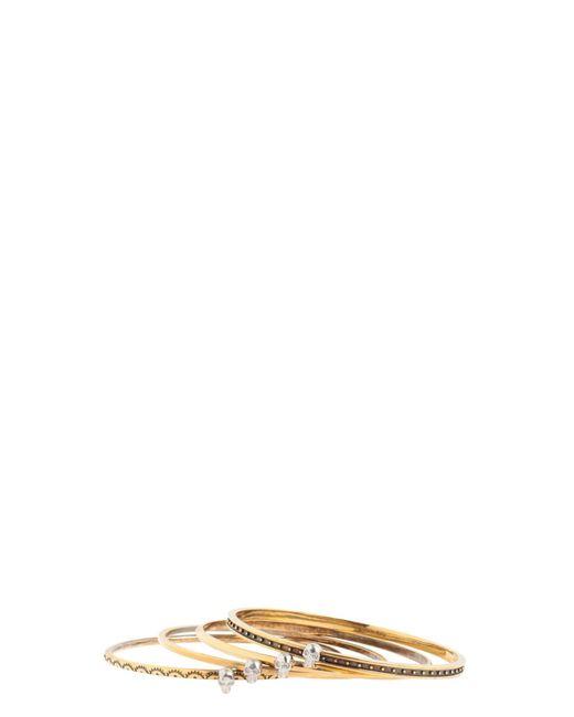 Alexander McQueen | Metallic Mini Skull Brass Bracelet | Lyst