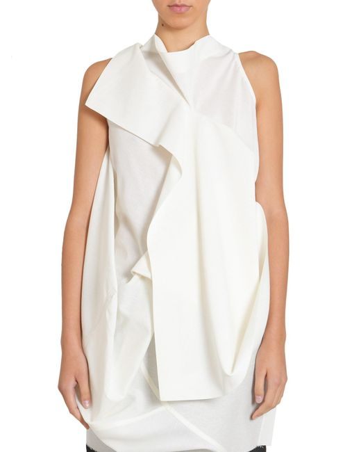 56506a0f4611b Rick Owens Backless Egret Top in White - Save 32% - Lyst