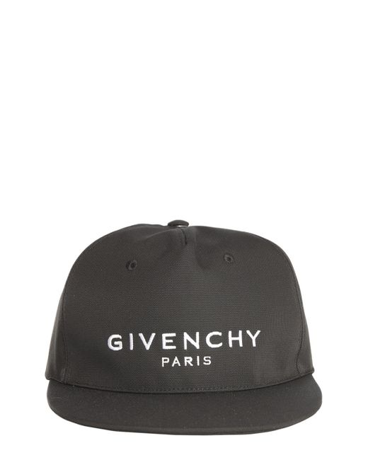 Givenchy - Black A Flat Visor In Canvas With Embroidered Logo for Men - Lyst