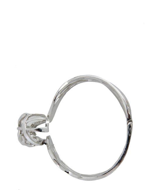 Alexander McQueen - Metallic Skull Bracelet In Metal Silver - Lyst