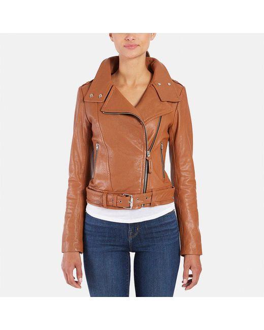 Mackage - Blue Hania Leather Biker Jacket - Lyst