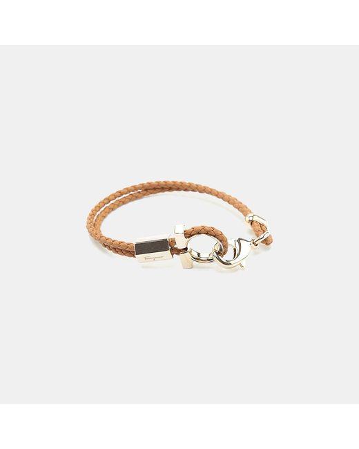 Ferragamo - Multicolor 545578 Br Zelo Gancio Nappa Leather Bracelet - Lyst