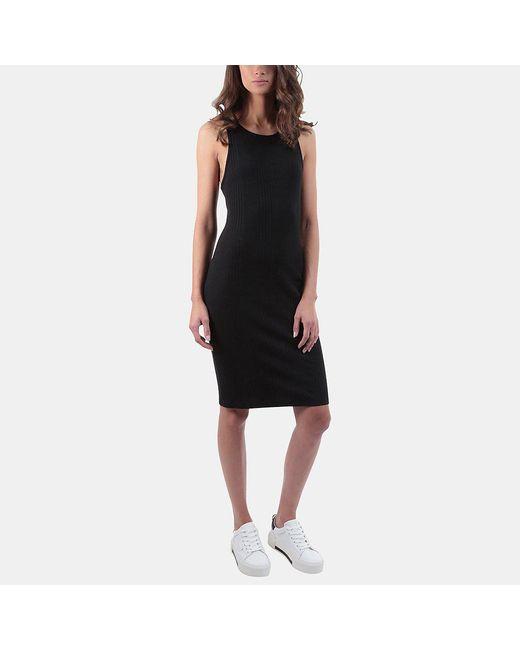 FRAME - Black Variegated Racerback Tank Dress - Lyst