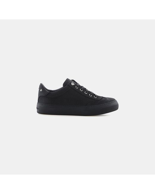 Jimmy Choo - Black Ace Point-embossed Nubuck With Steel Stars Sneaker for Men - Lyst