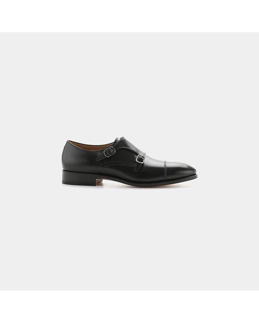 Ferragamo | Black Minato Double Monk Strap Shoe for Men | Lyst