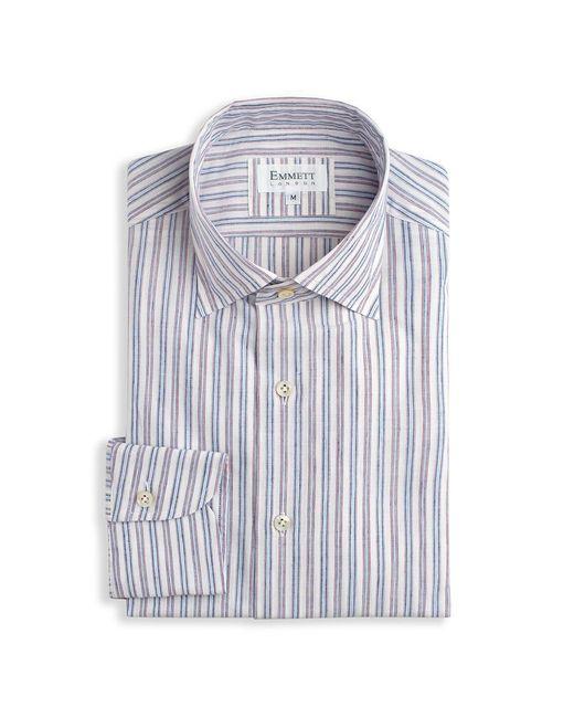 Emmett London - Multicolor Lightweight White & Red Stripe Shirt for Men - Lyst