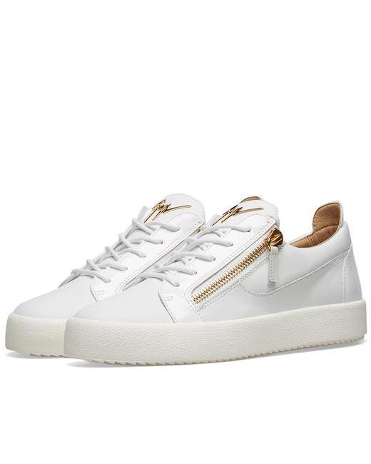 Giuseppe Zanotti - White Double Zip Low Sneaker for Men - Lyst