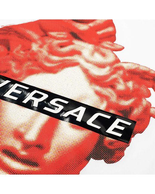 7b3a3b613 ... Versace - White Modern Medusa Print Tee for Men - Lyst ...