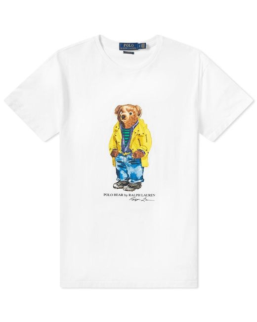 a5ba55456 Polo Ralph Lauren Bear Print T-shirt In White in White for Men - Lyst