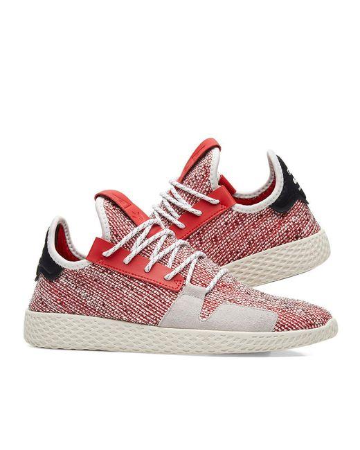 quite nice 3bbc8 214d7 ... Adidas Originals - Red Adidas Originals By Pharrell Williams Solarhu  Tennis V2 for Men - Lyst