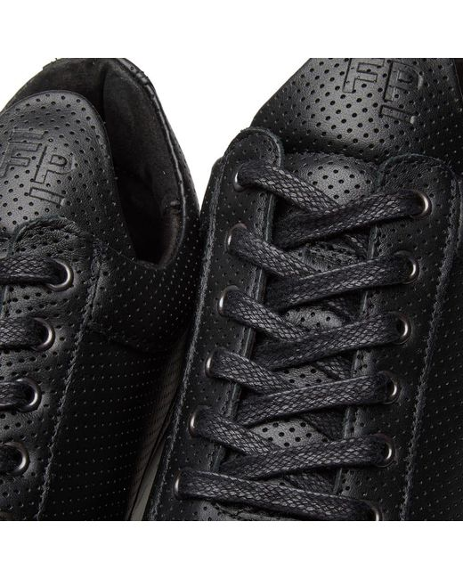 2d7814e6e58c ... Filling Pieces - Black Low Top Ghost Nappa Perforated Leather Sneaker  for Men - Lyst ...