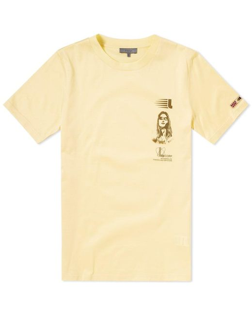 Lanvin - Yellow Symbol Branding Tee for Men - Lyst