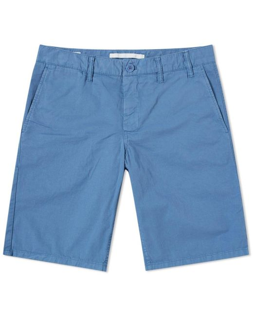 Norse Projects - Blue Aros Light Twill Short for Men - Lyst