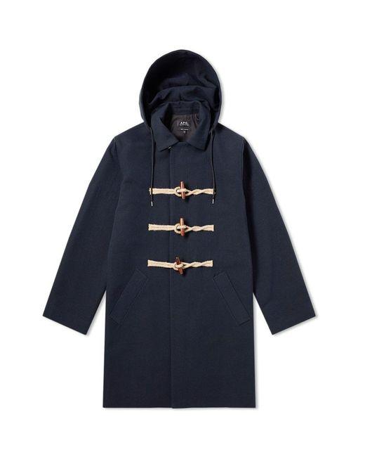 A.P.C. - Blue Poet Duffel Coat for Men - Lyst