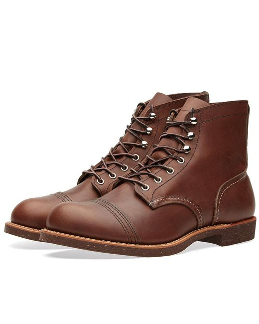 "Red Wing - Brown 8111 Heritage 6"" Iron Ranger Boot for Men - Lyst"