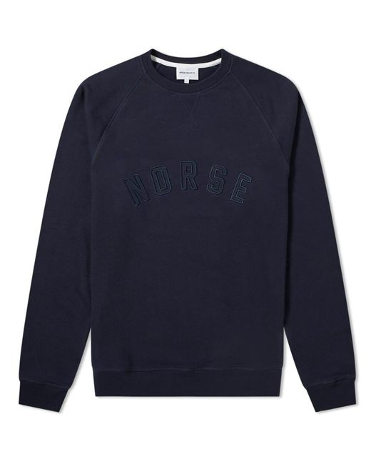 Norse Projects - Blue Vagn Classic Patch Logo Crew Sweat for Men - Lyst