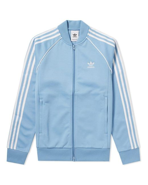 Adidas - Blue Superstar Track Top for Men - Lyst
