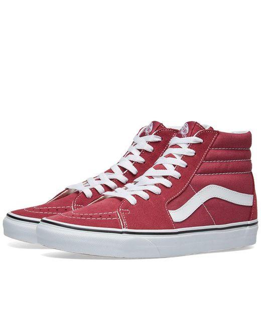 55321c45098d8a Lyst - Vans Sk8-hi in Red for Men - Save 67%