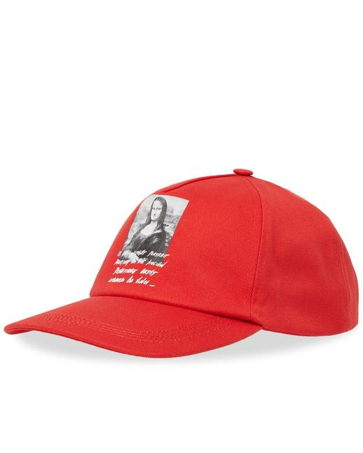 475102338b6 Off-White c o Virgil Abloh - Red Baseball Cap for Men - Lyst ...