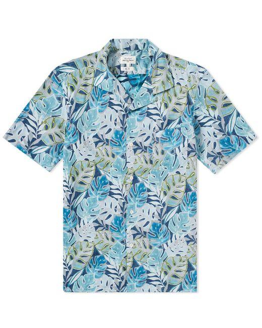 Hartford - Blue Slam Palm Vacation Shirt for Men - Lyst