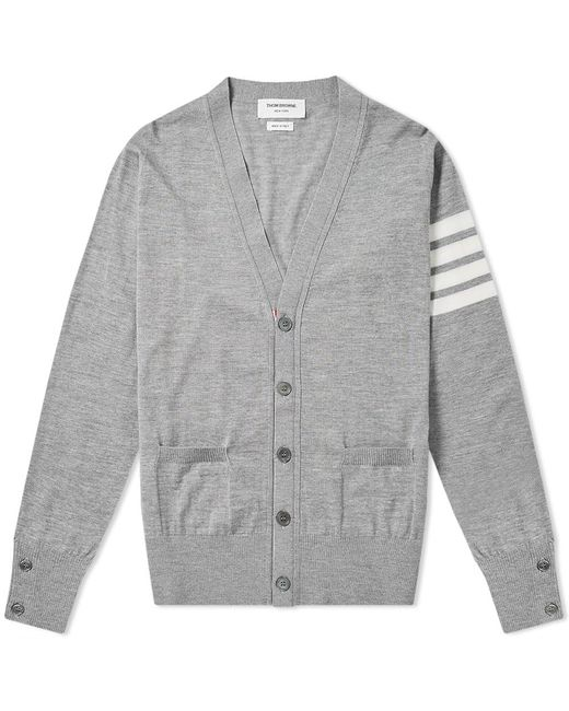 25a2adc7ed Thom Browne Classic Merino Cardigan in Gray for Men - Save 35% - Lyst