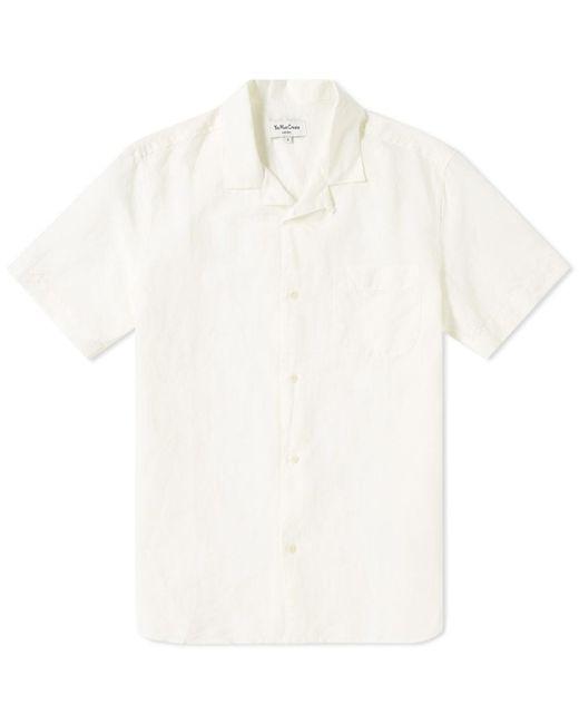 YMC - White Short Sleeve Malick Garment Dyed Cotton Shirt for Men - Lyst