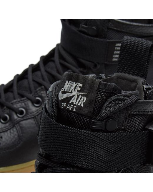 dd070a2ad96 Nike Sf Air Force 1 Mid W in Black for Men - Save 51% - Lyst