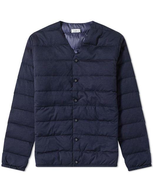 Nanamica Down Liner Jacket in Blue for Men - Save 50% - Lyst